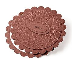Oreo cookie card made with scallop/circle punches and a brad. Punch Art Cards, Paper Punch, Shaped Cards, Embossed Cards, Origami, Cool Cards, Creative Cards, Kids Cards, Greeting Cards Handmade