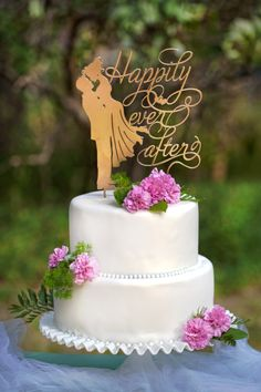 Wedding Cake Topper  Happily Ever After by WeDoExpressions on Etsy
