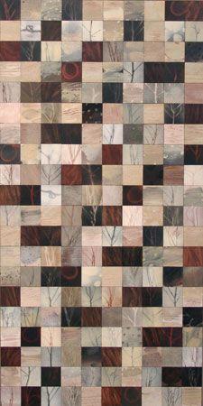 Lezlie Tilley | Landscape Quilt - Hoarfrost + Charcoal II | Brenda May Gallery Sydney