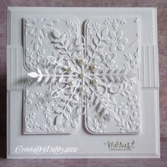 Snowflake and embossed white on white