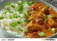 Kuřecí po debrecínsku recept - TopRecepty.cz Czech Recipes, Ethnic Recipes, No Cook Meals, Thai Red Curry, Nom Nom, Food And Drink, Menu, Healthy Recipes, Chicken
