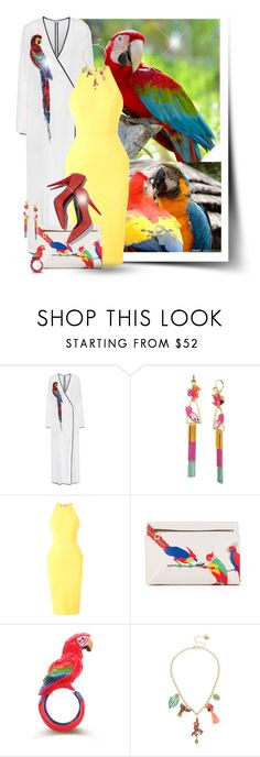 """Parrot"" by elona-makavelli ❤ liked on Polyvore featuring Attico, Betsey Johnson, Alex Perry, Loewe and Giuseppe Zanotti"