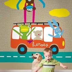 Rain / non-woven mural / lavmi Designer Wallpaper, Printing On Fabric, Kids Room, Make It Yourself, Children, Prints, Poster, Vintage, Murals