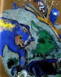 Sono 300 le incisioni di Marc Chagall dedicate alle favole di La Fontaine, una suite di esemplari a grandi margini, colorate a mano e firmate dall'artista.
