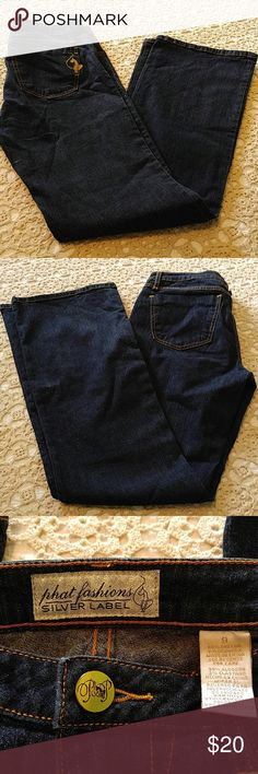PHAT FASHIONS, SILVER LABEL New w/o tags, never worn! Baby Phat Jeans Straight Leg