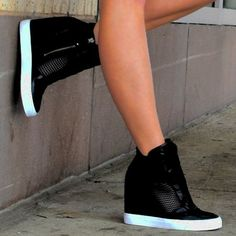 Dkny Cindy Wedge Sneaker Shoes DKNY Wedge Sneakers The post Dkny Cindy Wedge Sneaker Shoes appeared first on Daily Shares. Best Sneakers, Sneakers Fashion, Fashion Shoes, Fashion Outfits, Casual Outfits, Womens Fashion, Ladies Fashion, Fashion Trends, Wedge Shoes