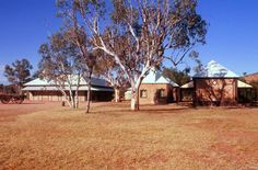 Alice Springs old Telegraph Station. With Nevil Shute in A Town Like Alice.