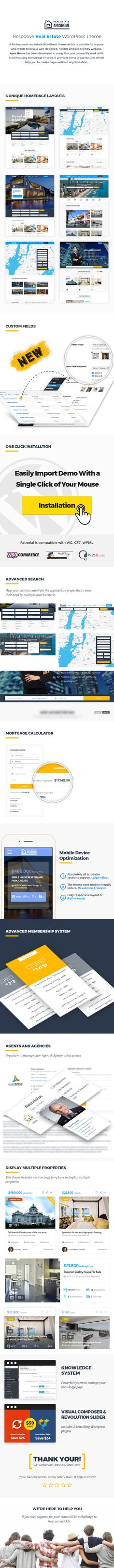 Demo account: demo/demodemo With ApusHome – Real Estate WordPress Theme users are able to manage their own listings without accessing admin dashboard. They can manage their profile, password and...
