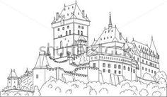 Vektor Gotický Hrad Karlštejn (carlstein) ET Česká Republika (evropa) vektor z knihovny - Clipart.me