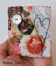 hens teeth : textile brooch/pin