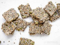 These crispy low-carb crackers are nut-free, grain-free, dairy-free, egg-free and perfect for healthy snacking. A healthy keto snack ideal for lunchboxes. Low Carb Keto, Low Carb Recipes, Whole Food Recipes, Recipes Dinner, Keto Snacks, Healthy Snacks, Healthy Eating, Clean Eating, Grain Free