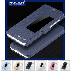 Case stand עור עבור huawei honor 6 יוקרה אביזרי אופנה כיסוי case flip מגן עבור huawei 6 חלון ורוד שחור לבן