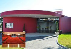 Teatro Municipal de Cerquilho, localizado na Praça Kennedy,  projeto do arquiteto Ruy Ohtake.