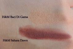 H&M High Impact Eye Color: Baci Di Dama и Sahara Dawn