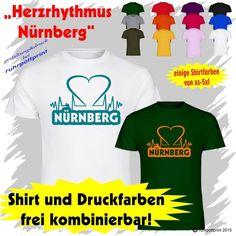 T-Shirt  Herzrhythmus Nürnberg  individuell gestaltbar mit Flexdruck