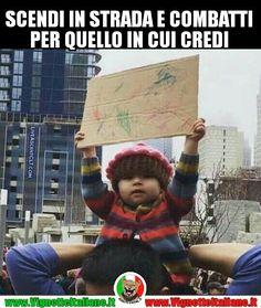 Bambini e protesta