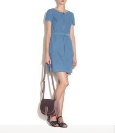 A.P.C. Stone-washed chambray dress