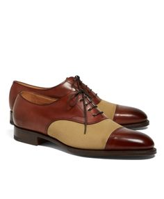 1fb7262bb6ebb Brooks Brothers Edward Green Chelsea Leather and Canvas Captoes