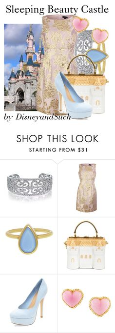 """Sleeping Beauty Castle"" by disneyandsuch ❤ liked on Polyvore featuring Bling Jewelry, Tahari by Arthur S. Levine, Annette Ferdinandsen, Dolce&Gabbana, Chanel, disney, disneybound, disneyland and WhereIsMySuperSuit"