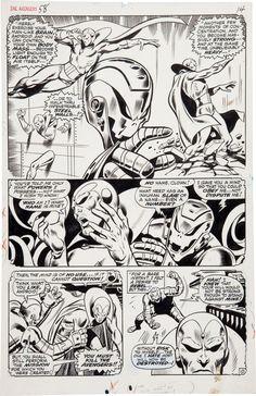 page 10 from The Avengers #58 by John Buscema and George Klein
