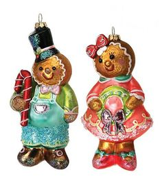 Take a look at this Gingerbread Children Ornament Set by Regency International on #zulily today!