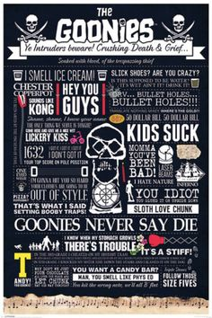 The Goonies - Typographic Pôster