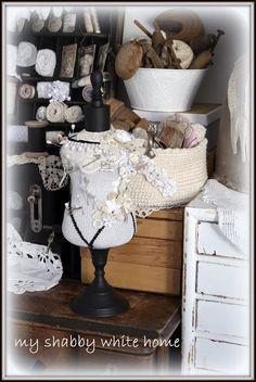 little manequin :) my shabby white home