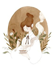 Tea Witch Art Print by Vanessa Gillings - X-Small Art And Illustration, Character Illustration, Illustrations, Witch Art, Cute Art, Art Inspo, Watercolor Art, Character Art, Concept Art