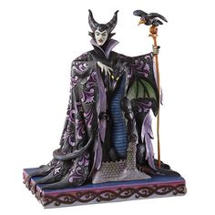 Jim Shore Disney Traditions Maleficent With Dragon Evil Enchantment 4027135 LED