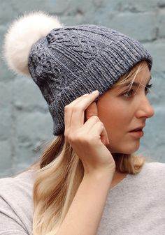 0df250056b4 Free Knitting Pattern for With Love Hat - Beanie knit with a unique slipped  stitch and