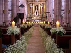 "Decoración para iglesia con flor ""nube""."