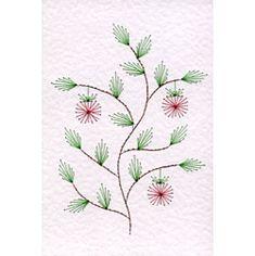 Apple tree stitching card
