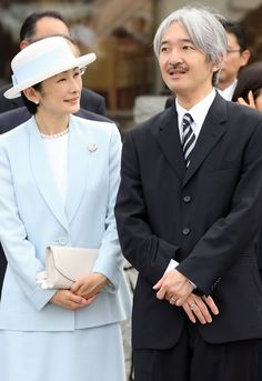Prince Akishino, second in line to the imperial throne, with his wife Princess Kiko