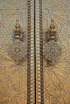 Morocco. Fez, doors Royal Palace