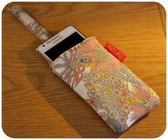 Tutoriel DIY housse étui smartphone portable mobile languette tirette