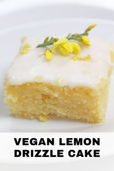 The home of vegan baking and delicously easy dessert recipes. Start your vegan desserts journey with recipes including lemon drizzle cake, chewy chocolate chip cookies and many more simple recipes! Vegan Dessert Recipes, Cake Recipes, Vegan Lemon Desserts, Vegan Lemon Drizzle Cake, Vegan Egg Substitute, Vegan Art, Dessert Mousse, Gateaux Vegan, Cake Vegan