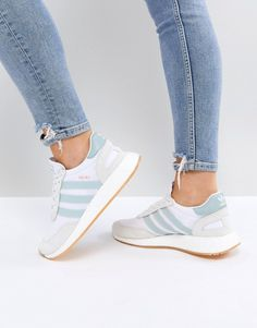 421189e6fd24 adidas Originals I5923 Sneakers In White And Mint