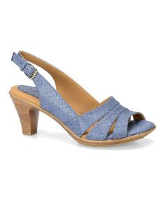 Look what I found on #zulily! Blue Neima Patent Leather Slingback Sandal #zulilyfinds