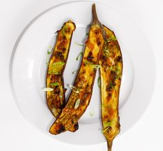Serve this rich, glazed eggplant as a starter, or with rice and a simply prepared piece of fish for a main course.