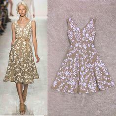 Free Shipping New Arrival Summer 2014 V-neck Elegant Printed Dress  140527XD01 $68.00