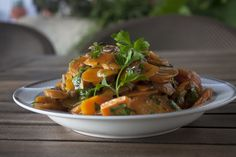 Carrot salad with mushrooms and Pedro X�menez