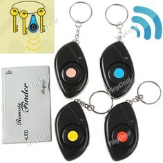 http://www.tinydeal.com/it/remote-control-key-finder-with-4-receivers-p-57115.html  1 to 4 Wireless Remote Control Electronic Key Finder Goods Finder Anti-lost Alarm