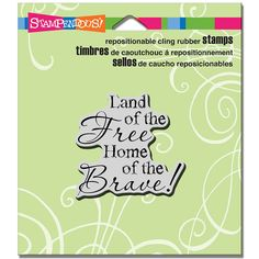 Stampendous - Cling Mounted Rubber Stamp - Free And Brave