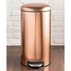 Copper Pedal Bin 30L removeable inner bin for easy cleaning and non-slip base: Amazon.co.uk: Electronics
