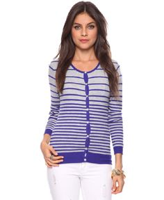 Graduated Stripes Cardigan | FOREVER 21 - 2087533064