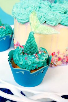 How to Make Mermaid Tail Cupcakes | Jordan's Easy Entertaining