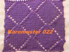 Karomuster*Ajourmuster 022*Muster Stricken*Muster für Pullover*Mütze*Tut...
