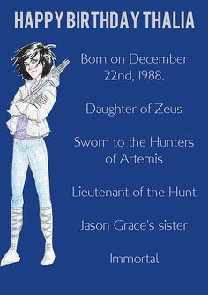 Yes, her birthday IS Dec 22. The Titan's Curse.