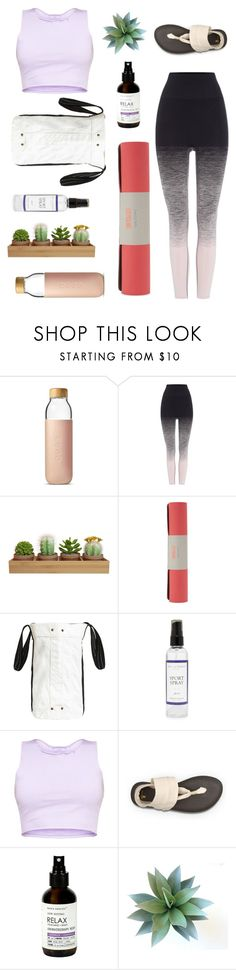 """""""TRENDING"""" by barelyforeignview ❤ liked on Polyvore featuring Soma, Pepper & Mayne, Sweaty Betty, Manduka, The Laundress and sanuk"""