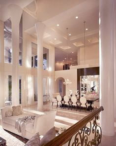 Elegant Interior Space in White #Home #Interior